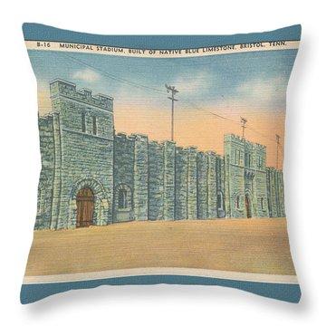 Stone Castle Bristol Tn Built By Wpa Throw Pillow