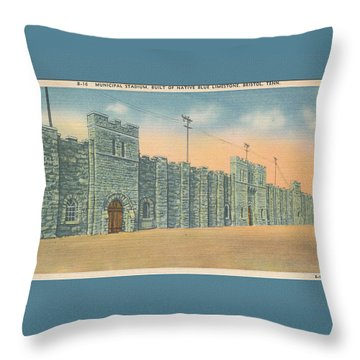 Stone Castle Bristol Tn Built By Wpa Throw Pillow