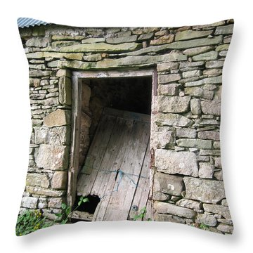 Throw Pillow featuring the photograph Stone Cottage by Kandy Hurley