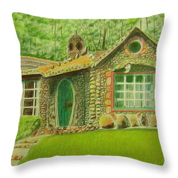 Stone Cottage Throw Pillow by Ruth Seal