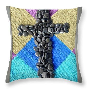 Stone Cross Throw Pillow