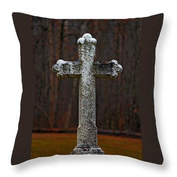Stone Cross Throw Pillow