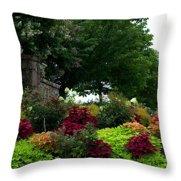 Stone Entrance Throw Pillow