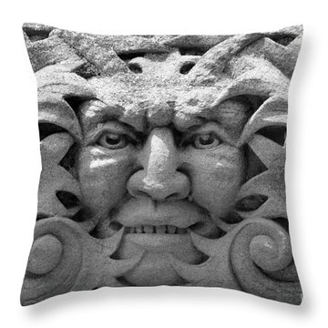 Stone Face I Throw Pillow