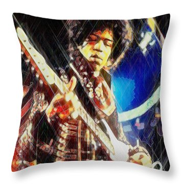 Throw Pillow featuring the digital art Stone Free by Kenneth Armand Johnson