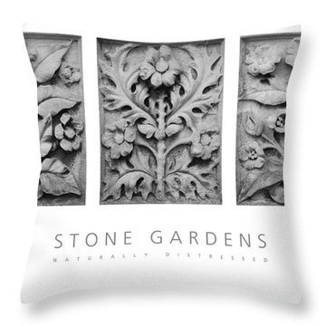 Stone Gardens 1 Naturally Distressed Poster Throw Pillow by David Davies