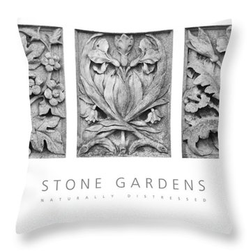Stone Gardens 2 Naturally Distressed Poster Throw Pillow by David Davies