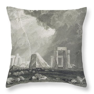 Stone Henge Throw Pillow by Joseph Mallord William Turner