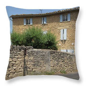 Stone House Throw Pillow by Pema Hou