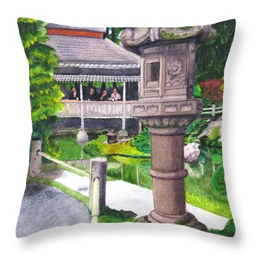 Stone Lantern Throw Pillow by Mike Robles