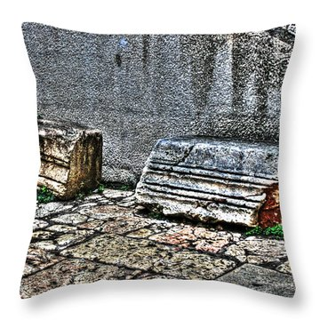 Throw Pillow featuring the photograph Holy Rocks In Israel by Doc Braham