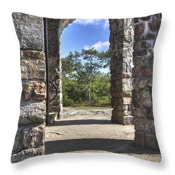 Stone Memorial  Throw Pillow by Larry Braun