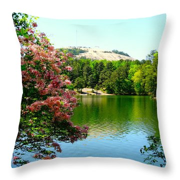 Stone Mountain Georgia Throw Pillow
