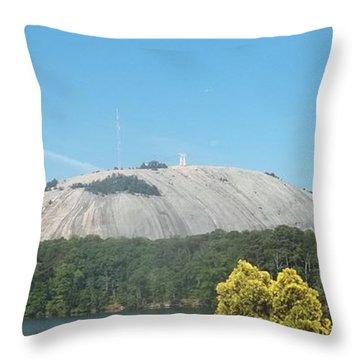 Stone Mountain I Throw Pillow