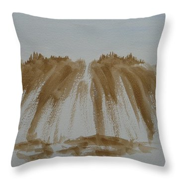 Throw Pillow featuring the painting Stone Mountain Sketch by Joel Deutsch