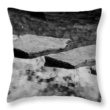 Stone Path I Throw Pillow by Maria Angelica Maira