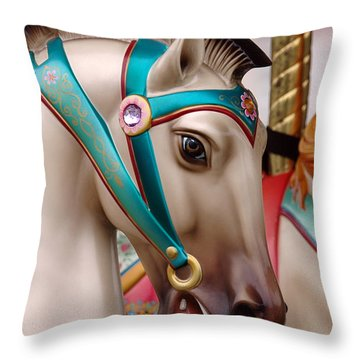 Throw Pillow featuring the photograph Stone Pony by Sami Martin