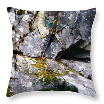 Stone Pool Throw Pillow