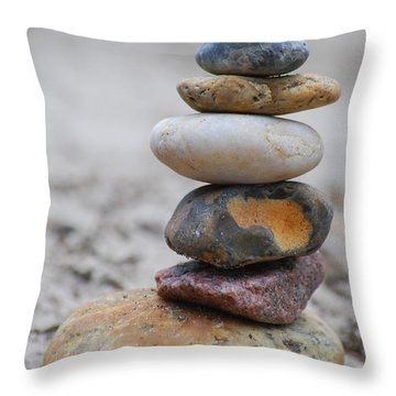 Stone Pyramide Throw Pillow by Hannes Cmarits