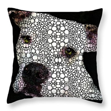 Stone Rock'd Dog By Sharon Cummings Throw Pillow by Sharon Cummings