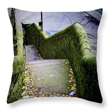 Throw Pillow featuring the photograph Stone Staircase by Craig B