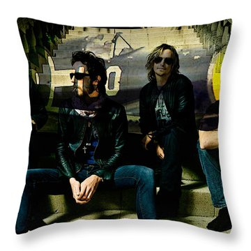 Stone Temple Pilots Throw Pillow by Marvin Blaine