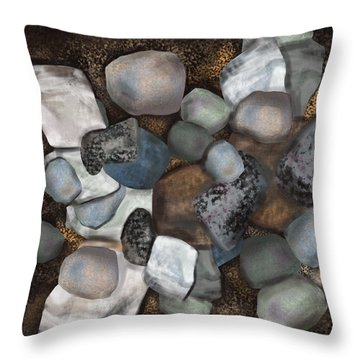 Stone Thoughts Throw Pillow by Christine Fournier