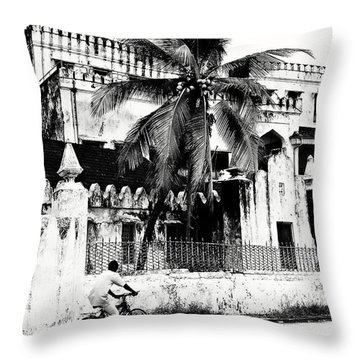 Tanzania Stone Town Unguja Historic Architecture - Africa Snap Shots Photo Art Throw Pillow by Amyn Nasser
