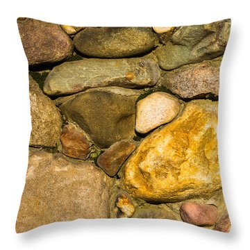Stone Wall - Featured 3 Throw Pillow by Alexander Senin