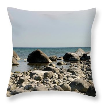 Stoned Beach Throw Pillow