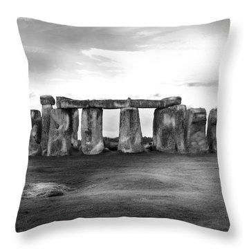 Stonehenge In The Rain Throw Pillow