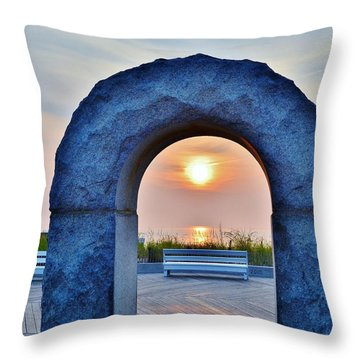 Sunrise Through The Arch - Rehoboth Beach Delaware Throw Pillow