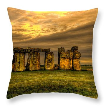 Stonehenge Throw Pillow by Svetlana Sewell