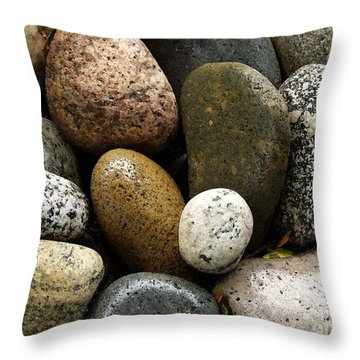 Throw Pillow featuring the photograph Stones by Carol Sweetwood