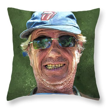 Stones Fan Throw Pillow