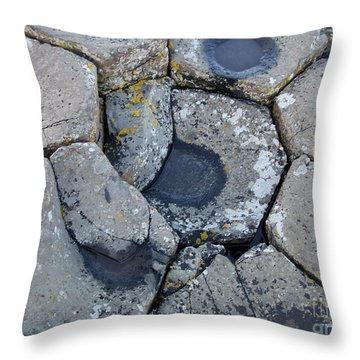 Stones On Giant's Causeway Throw Pillow