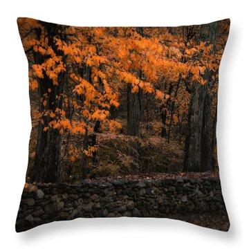 Stonewall In Autumn Throw Pillow by GJ Blackman