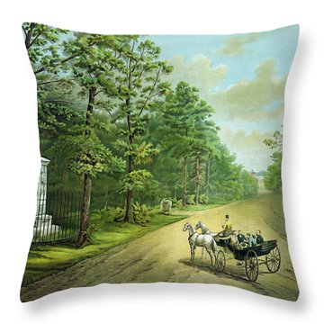 Stonewalls Memorial At Chancellorsville Throw Pillow