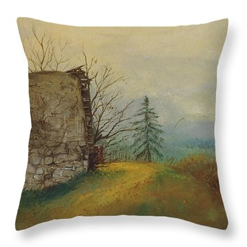 Stoney Silence Throw Pillow by Sherri Anderson