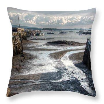 Stonington Low Tide Throw Pillow
