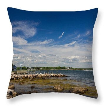 Throw Pillow featuring the photograph Stonington Point Seascape by Kirkodd Photography Of New England