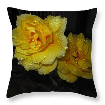 Stop And Smell The Roses Throw Pillow by Joyce Dickens