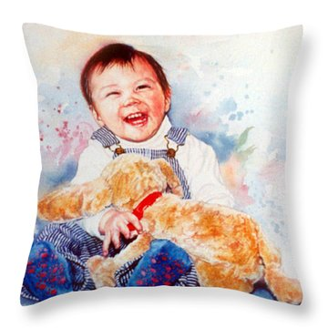 Stop Tickling Throw Pillow by Hanne Lore Koehler