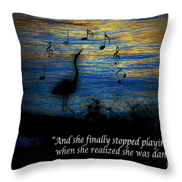 Throw Pillow featuring the photograph Stopped Playing Their Song by Ola Allen