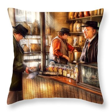Store - Ah Customers Throw Pillow by Mike Savad