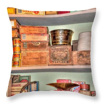 Store - General Store Throw Pillow by Liane Wright