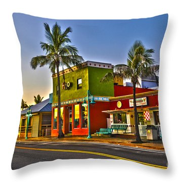 Store On Fort Myers Beach Florida Throw Pillow