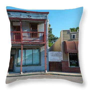 Stores At The Roadside, Isleton Throw Pillow