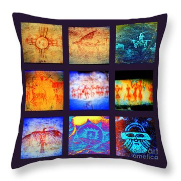 Stories On Stone Throw Pillow by Joe Jake Pratt
