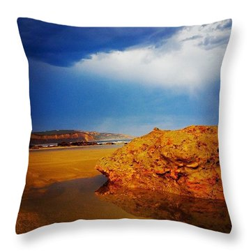 Storm Puddle Throw Pillow